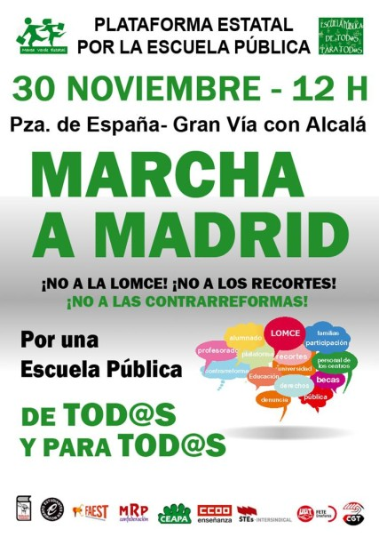 cartel mani 30 nov