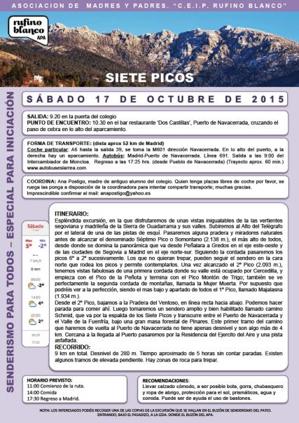 Siete Picos 17 octubre